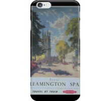 ROYAL LEAMINGTON SPA ~ TRAVEL BY TRAIN iPhone Case/Skin