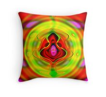 Psychedelic Goldfish Throw Pillow