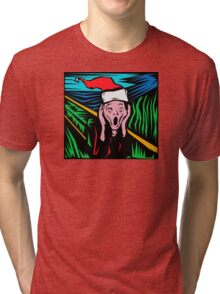 """Scream"" Christmas T-Shirt Tri-blend T-Shirt"