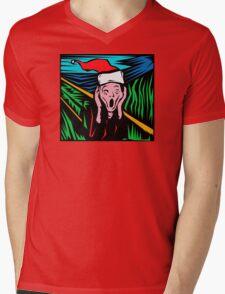 """""""Scream"""" Christmas T-Shirt Mens V-Neck T-Shirt"""