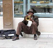 The busker. by Anne Scantlebury