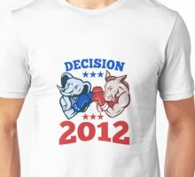 Democrat Donkey Republican Elephant Decision 2012 Unisex T-Shirt