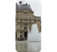 louvre fountain landscape iPhone Case/Skin