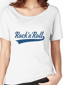 Rock 'n' Roll (Blue) Women's Relaxed Fit T-Shirt