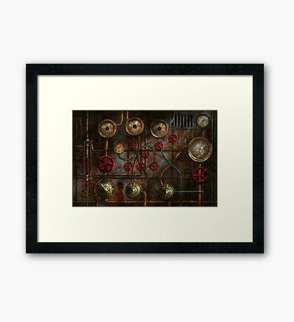 Steampunk - Job jitters Framed Print