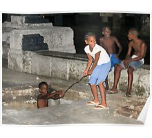 Children playing. Poster