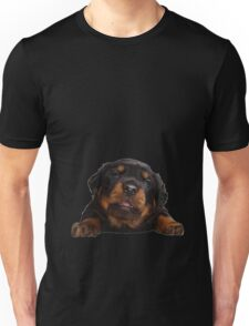 Cute Rottweiler With Tongue Out Isolated Unisex T-Shirt