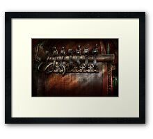 Steampunk - Motorized  Framed Print