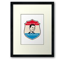Obama For American President Shield Framed Print