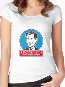 Mitt Romney For American President Women's Fitted Scoop T-Shirt