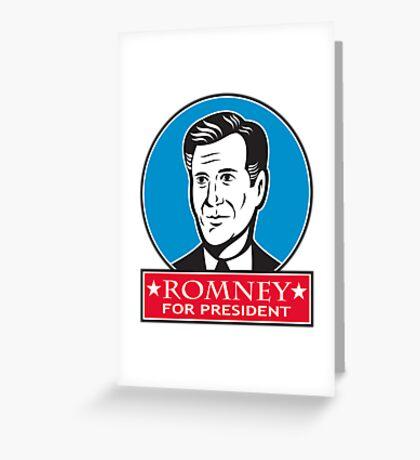 Mitt Romney For American President Greeting Card