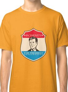 Mitt Romney For American President Shield Classic T-Shirt