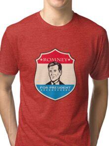 Mitt Romney For American President Shield Tri-blend T-Shirt