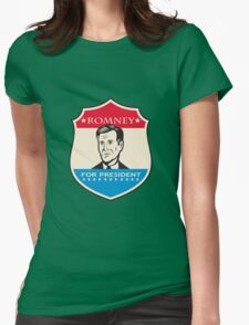 Mitt Romney For American President Shield Womens Fitted T-Shirt