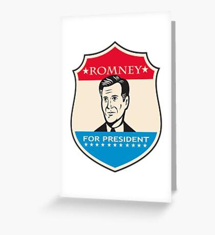 Mitt Romney For American President Shield Greeting Card