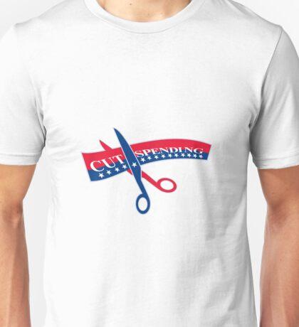 Cut Spending Scissors Cutting Bill Unisex T-Shirt
