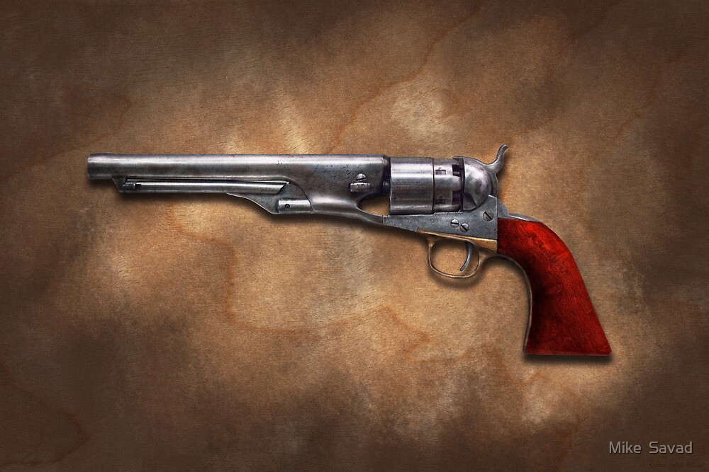 Gun - Model 1860 Colt Army Revolver by Mike  Savad