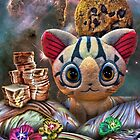 Sliced Bread, Chocolate Chip Cookie and Stuffed Kitten Scape by GolemAura