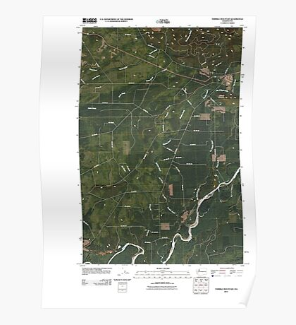 USGS Topo Map Washington State WA Thimble Mountain 20110418 TM Poster