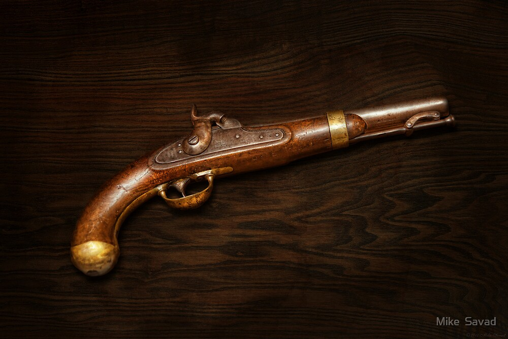 Gun - US Pistol Model 1842 by Mike  Savad