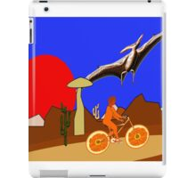 A Pterodactyl and an Orange Bicycle iPad Case/Skin