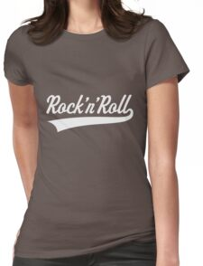Rock 'n' Roll (White) Womens Fitted T-Shirt
