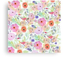 Pretty watercolor hand paint abstract floral Canvas Print