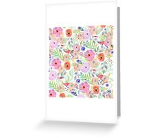 Pretty watercolor hand paint abstract floral Greeting Card