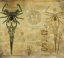 The Elegant Whip-Tail Scorpion Blossom Shears by InsectsAngels