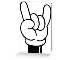 COOL FINGERS Greeting Card