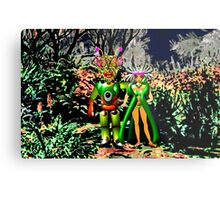 The Local Population is Very friendly on Exoplanet Ykculiain in the Galaxy of Zirene Metal Print