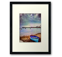 The calm before a storm. Framed Print