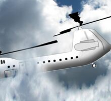 Chinook type Helicopter Descending into Cloud Sticker