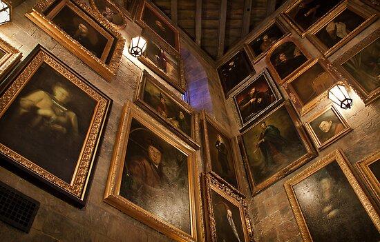Hogwarts Castle: Wall of Talking Portraits by Scott Smith