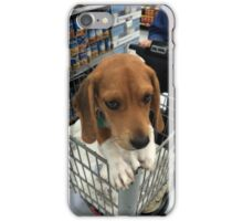 Shopping with Puppy  iPhone Case/Skin