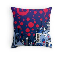 REDBUBBLE CITY! Throw Pillow