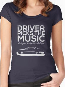 Driver picks the music, Women's Fitted Scoop T-Shirt
