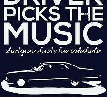 Driver picks the music, by whoviandrea