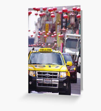 Taxi.......!!!!!!!!!!!!! Greeting Card
