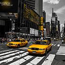 Yellow Cabs cruisin on the Time Square by hannes cmarits