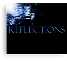 Shining Blue Reflections Canvas Print