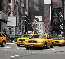NYC: Yellow Cabs (ck) by hannes cmarits