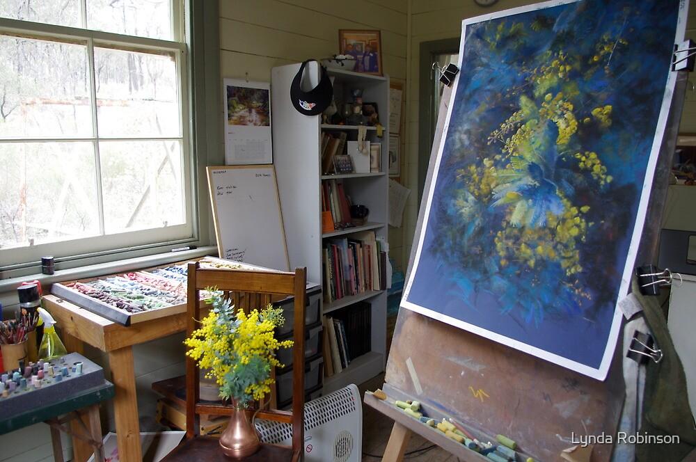 Work in Progress (A Burst of Spring) by Lynda Robinson