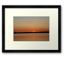 Sunset, Lopez Island, WA Framed Print