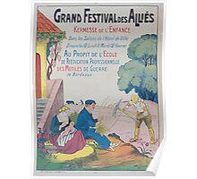 Grand festival des alliés Kermesse de lenfance au profit de lécole de réeducation professionnelle des mutilés de guerre de Bordeaux Poster