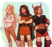 The Fellowship of 70s Fantasy Fashion by HattieHedgehog