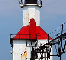 St. Joseph Lighthouse, Lake Michigan by Kenneth Keifer