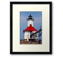 St. Joseph Lighthouse, Lake Michigan Framed Print