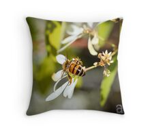 Bee's Bum Throw Pillow