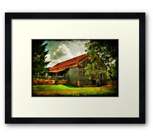 A Farm-Picture Framed Print